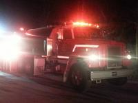 On the scene, working structure fire mutual aid to Lincoln Twp. Fire Department