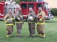 Assistant Chief Matt Carlson, Safety Officer Michael Myers, Chief Corrie Myers, Captian Jeremy Vanderwall.<br>Not Pictured: Captain Shaun Wynn
