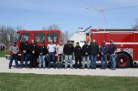 Some of the members, after our first Fire Prevention Breakfast in Mount Ayr, 4/14/13.