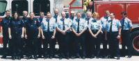 Fire Fighters and Fire Cadets at Fire Station Dedication 2002.