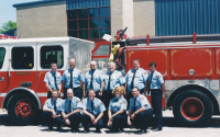 Fire Fighters at Fire Station Dedication 2002.