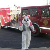 Easter Bunny Visiting the Community Center in 2012.