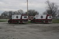 Newton County EMS in Mount Ayr for MVFD Breakfast.<br>4/14/13.