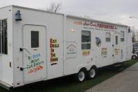 Fire Prevention Trailer provided by Jasper County Fire Association (by Rensselaer Fire Department).  Provides a safe, but realistic setting for children to practice exiting a smoke filled home.
